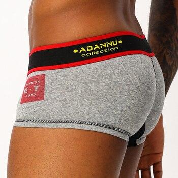 New Arrivals ADANNU Men Underwear Boxer Cotton Breathable Comfortable Underpants Male Pants U Pouch 4 Color AD48 - discount item  21% OFF Men's Underwears