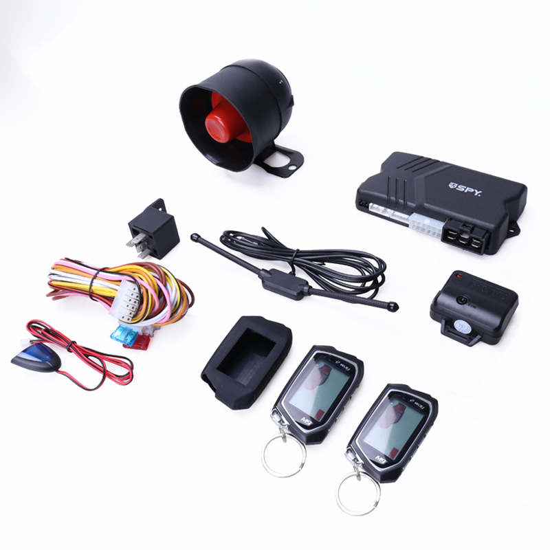 SPY universal two way car alarm system LCD remote engine start stop