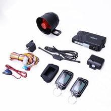 Sistema de alarme automotivo universal espião, duas vias, lcd, motor remoto, parada de partida