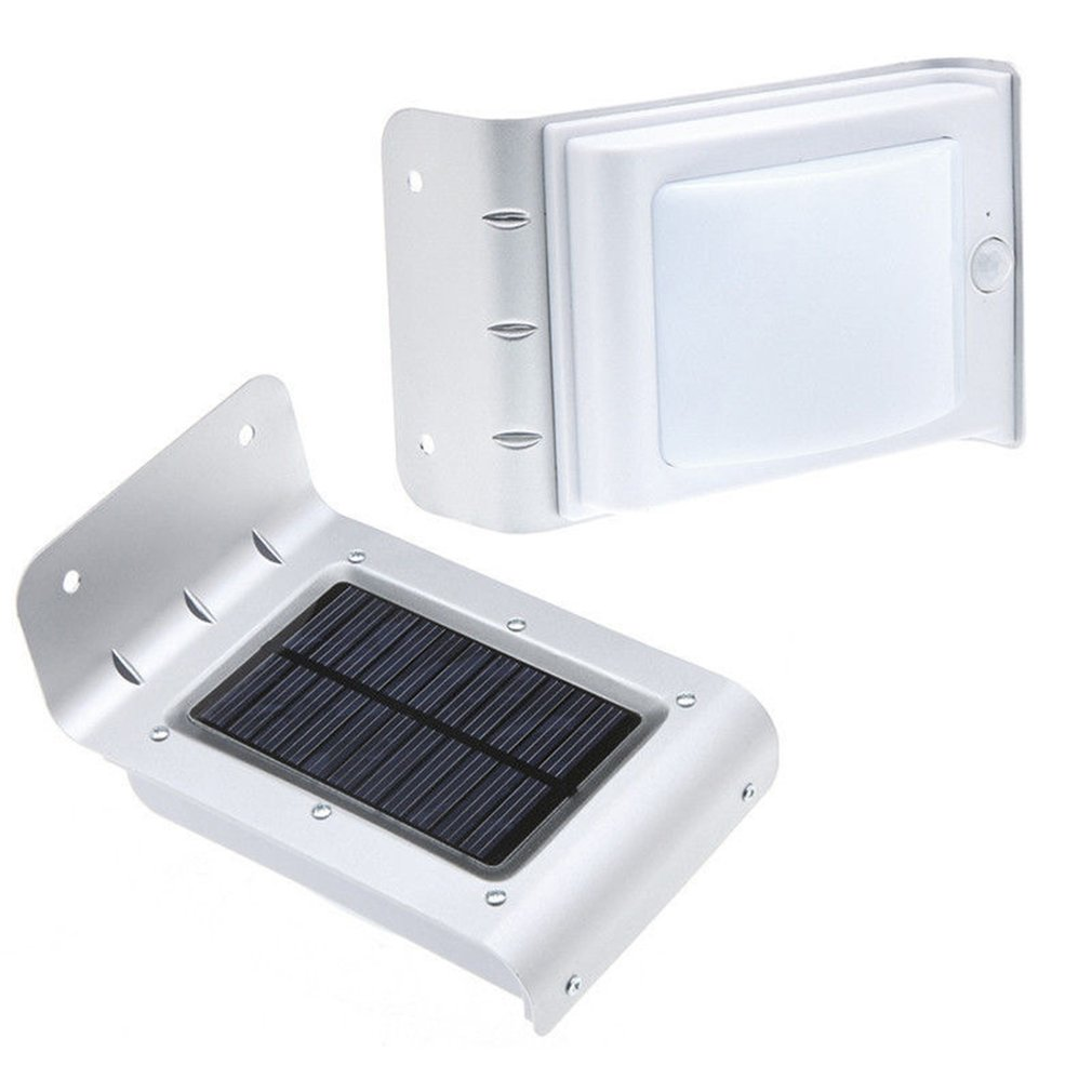 Intelligent Sound Control Induction Lamp Solar Powered Light Waterproof Security Lamp Universal 16 LEDs Wall Lamp
