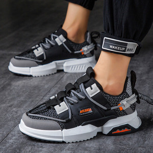 Image 4 - 2019 New Casual Shoes Autumn Men Fashion Sneakers  Breathable Light Mesh Lace Up Mixed Colors Flats Male Sneaker Casual Shoes