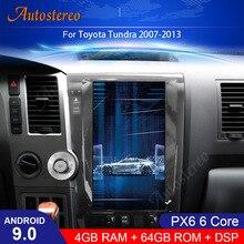 цена на Android 9.0 Tesla style Car Headunit GPS Navigation For Toyota Tundra 2007-2013 Stereo Multimedia Player Radio Tape Recorder PX6