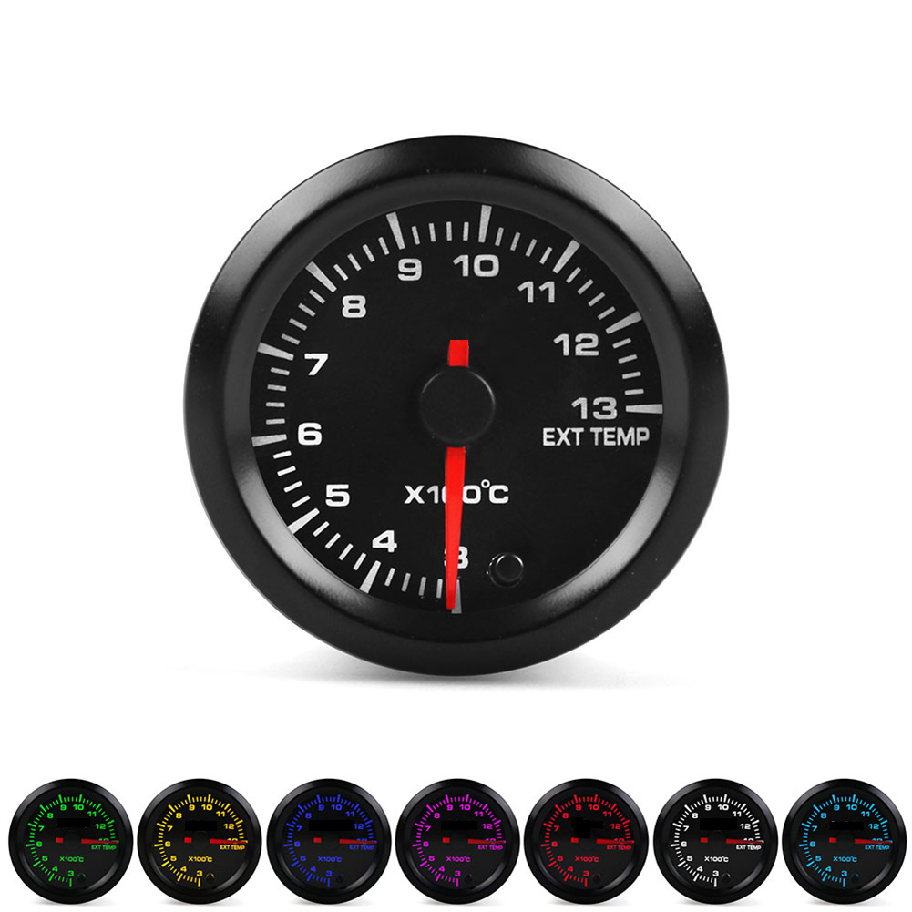 Car Universal Exhaust Gas Thermometer 52mm Pointer Racing Auto Vehicle Modification Parts Tool Temperature Gauge F-Best
