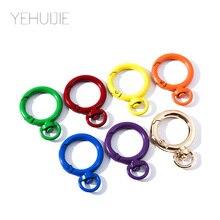 Holder Handbag-Accessories Keychain Key-Ring Charm Metal Colorful Cute for Girl Friend