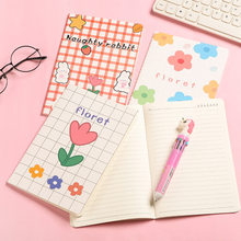 4 Booklets/ Set A5 Kawaii Cute Diary Planners Notebook Suture Book For Portable Schedule Monthly Weekly Plan Office Stationery