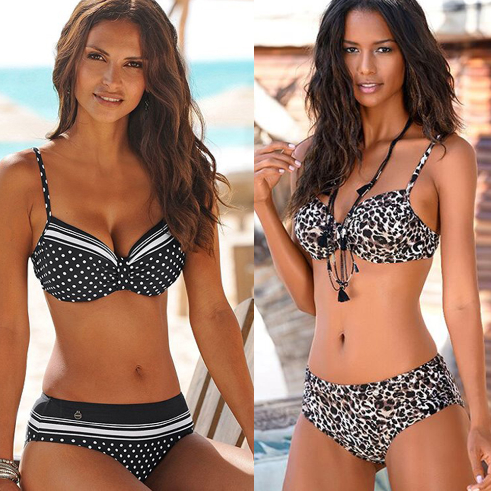 Sexy Push Up Bikini Women Swimsuit 2020 Beach Brazilian Bikini Set High Waist Swimwear Bathing Suit Leopard Print Swimming Suits