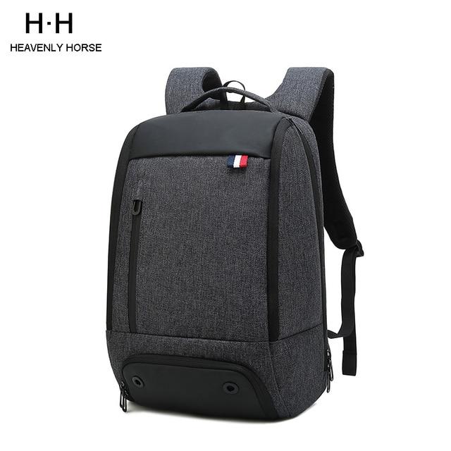 抗盗難男性 mochila ビジネス旅行 15.6 インチのラップトップのバックパック、男性防水カレッジスクールコンピュータバッグ