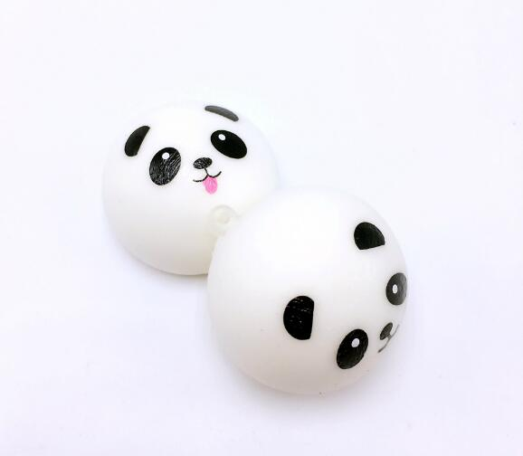 Keychain Kids Ball Decompression-Toys Panda Bun Stress Reliever Squishy Slow Rising PU img3