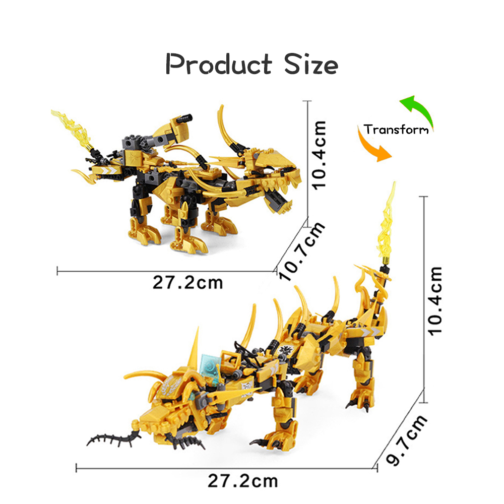 Image 5 - Compatible Ninjagoed Ninja Golden Dragon Mech Creator Dragon 2 in 1 Set DIY Educational Gift Building Blocks Toys For ChildrenBlocks   -