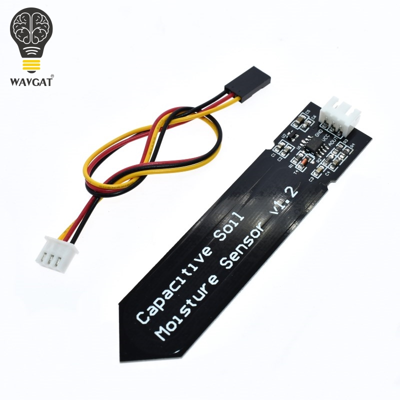 WAVGAT Capacitive Soil Moisture Sensor Module  Wide Voltage Wire 3.3~5.5V Corrosion Resistant W/ Gravity For Arduino DIY