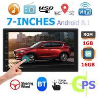 Android 8.1 2 din Car Radio Car Stereo MP5 Player GPS Navigation Bluetooth 7 Car Audio Radio Coche 1GB+16GB WiFi USB Radio