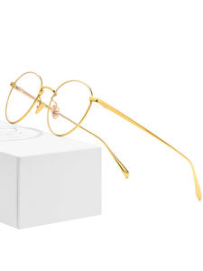 Eyeglasses Frames Eyewear Myopia Optical-Prescription Round Retro Vintage Women Pure