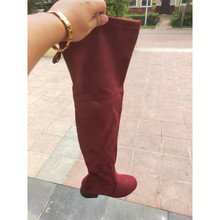 for autumn women shoes woman Overknee Keep Warm High Increase Long boots