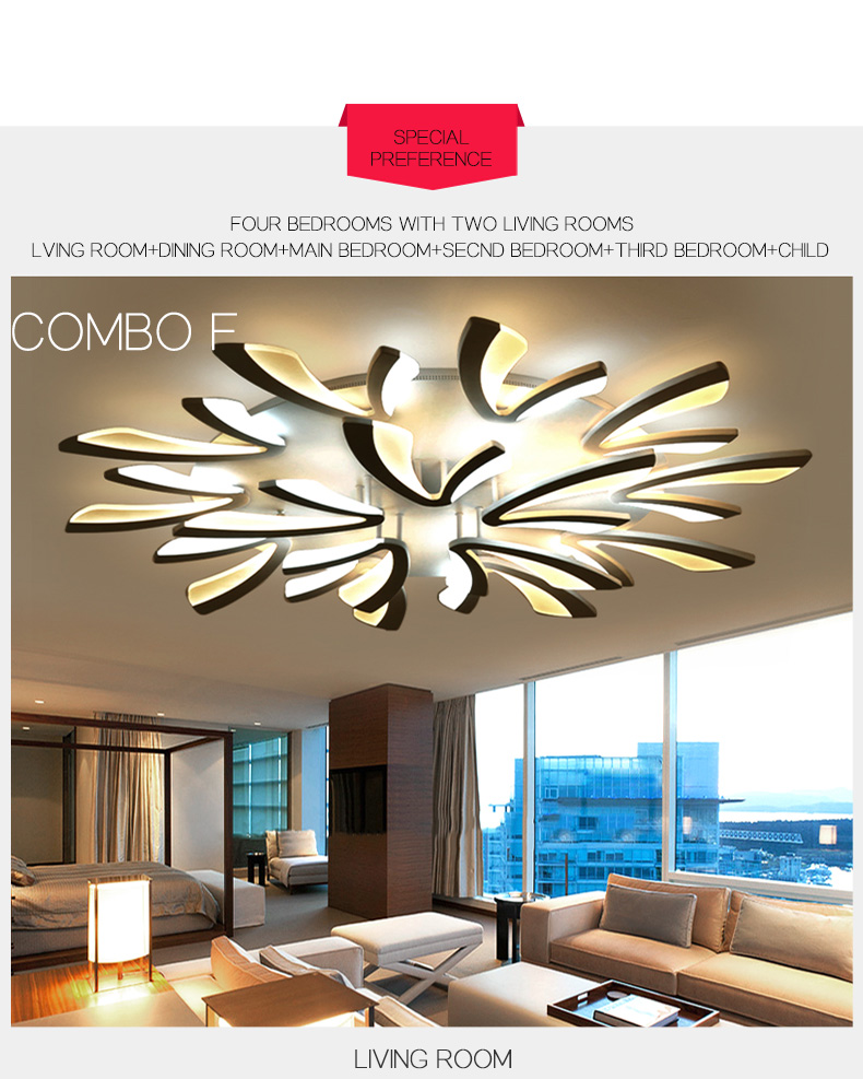 H572c3b28a4294b31bd7c4ad4f526533cH LED Ceiling Lights Dandelion Indoor Ceiling Lamp Modern Simple Post-Modern Living Room Bedroom Dining Room Study Room