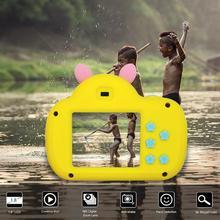 Портативная Детская цифровая камера 2000W HD с милым мультяшным изображением поросенка, 2 дюйма, ips экран, игрушечная мини-камера, подарок для детей
