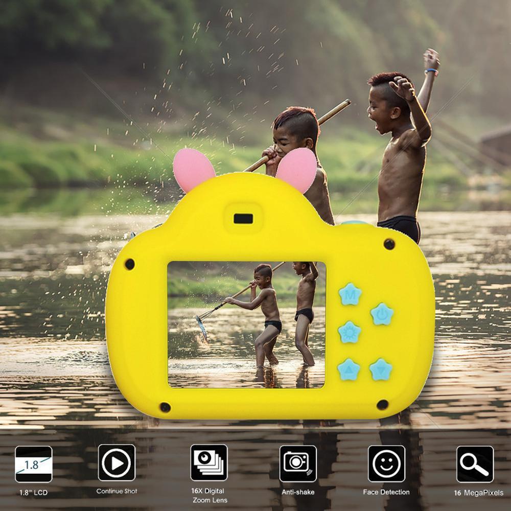 Children Mini Camera Full HD 1080P Portable Digital Video Photo Camera 2 Inch Screen Display Children Game Study Piggy Camera