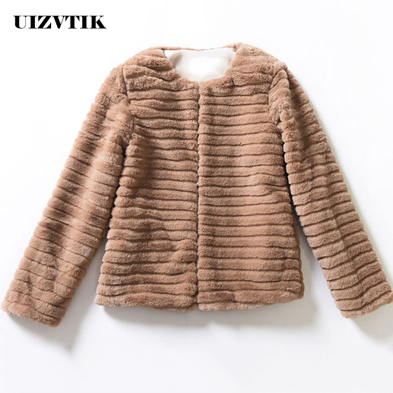 Winter Faux Fur Coat Women 2019 Casual Plus Size Slim Casual Solid Short Coat Female Jackets Thick Warm Solid Kamizelka Futerko