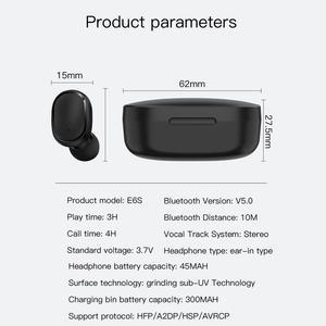 Image 5 - Bezprzewodowe słuchawki douszne dla Xiaomi Redmi Airdots słuchawki Bluetooth 5.0 TWS słuchawki z redukcją szumów Mic dla iPhone 11 Samsung A6S