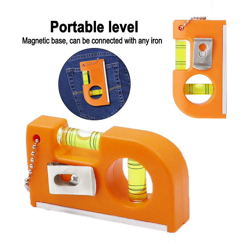 Mini Portable Belt Type Mini Zip Level Spirit Level Magnetic Level Aluminum Alloy Balance Level