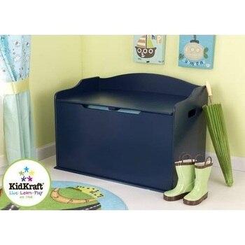 Children Cabinets KidKraft  Box for storage \Austin Toy Box-Blueberry (T. Blue) children's furniture for kids toy rack storage system toy box dresser toy Cabinet ящики для игрушек kidkraft ящик для хранения austin toy box