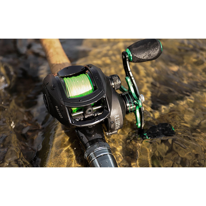 LINNHUE лучшая катушка для Baitcast BS2000 8,1: 1 высокоскоростная Рыболовная катушка, 8 кг, максимальная Тяговая усиленная катушка, катушка для сопротивления карпа, рыболовная катушка 3