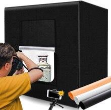 M80 LED Lightbox 80*80*80 centimetri Portable Photo Studio Tenda di Luce Pieghevole Photo Box 32 pollici Softbox per la Fotografia Del Prodotto Giocattolo Sparare