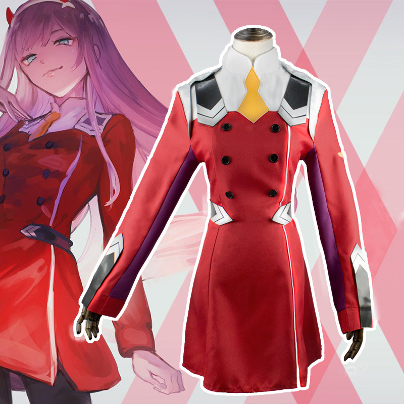 Darling In The Franxx Heroine 02 COS Costume National Team Strelitzia Reginae Cosplay Clothing
