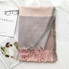 ニットカシミヤパシュミナスカーフロングスカーフとtesselウォーマー冬のファッションスカーフ高級ギフト女性のための