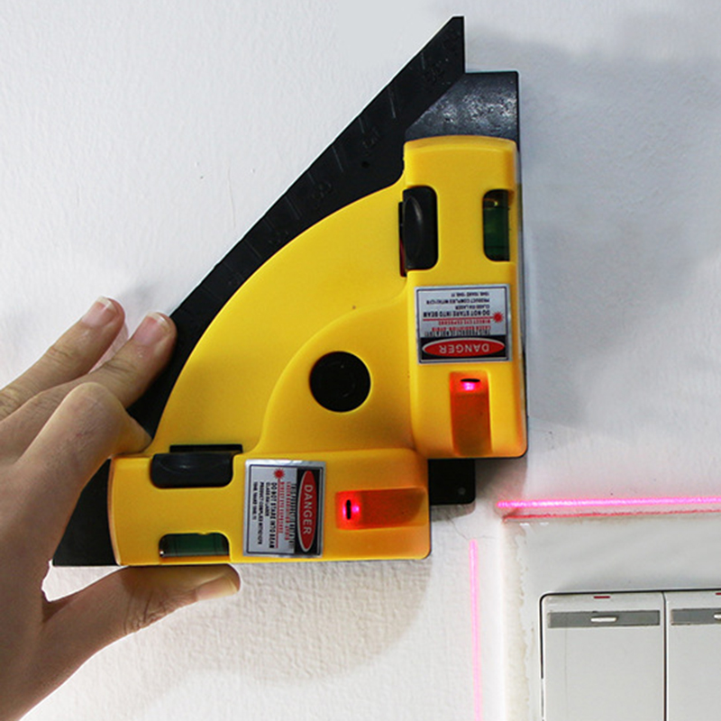 Прямоугольный 90 градусов вертикальный и горизонтальный лазер уровень квадратный проекционный лазерный измерительный инструмент лазерный...