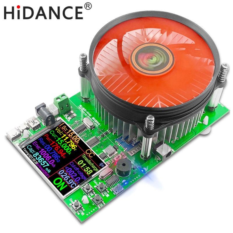"""150 Вт цветной 2,4 """"приложение DC USB тестер Электронная нагрузка Емкость батареи монитор разряда заряда цифровой контроль измеритель мощности"""