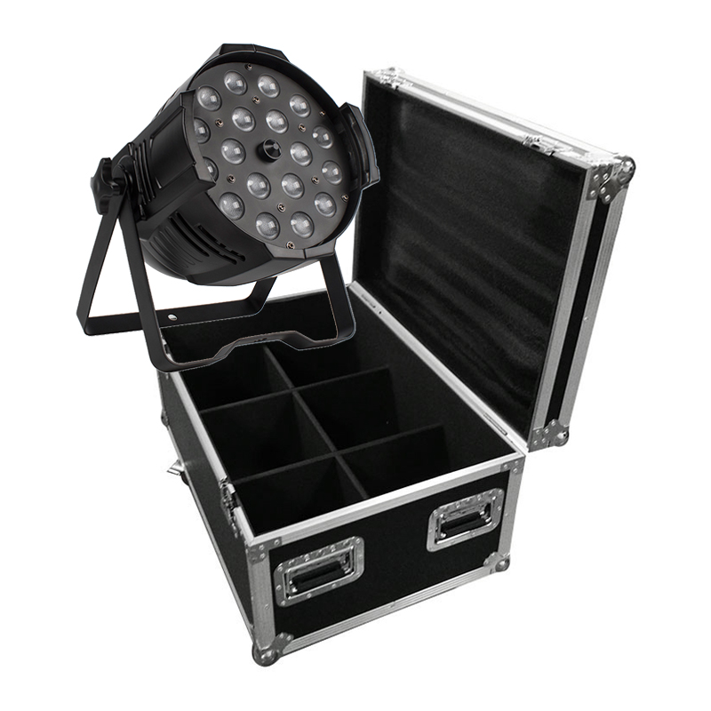 6pcs Led Zoom Par Light 18x12W 4in1 With Flight Case RGBWA UV 6in1 18x18W Zoom 10-60 Degree DJ DMX Stage Controller Disco Par64