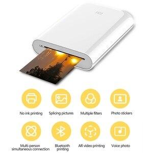 Image 2 - Xiaomi mijia AR yazıcı 300dpi taşınabilir fotoğraf Mini cep DIY payı 500mAh resim yazıcı cep yazıcı çalışması ile mijia