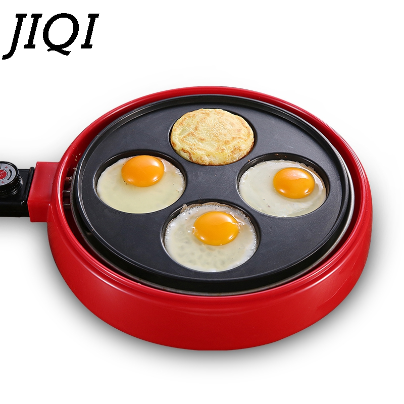 JIQI Electric Crepe Maker Pie Pancake Baking Machine Non-stick Egg Cooker Stove Steak Eggs Omelet Frying Pan Breakfast Grill EU