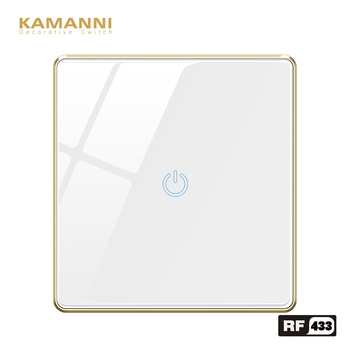 KAMANNI switch with remote control 220 1gang touch sensor Smart RF 433  light switch remote on off wireless remote light control new ac 220v 1 ch channels manual on off wireless remote control switch lamp light switch