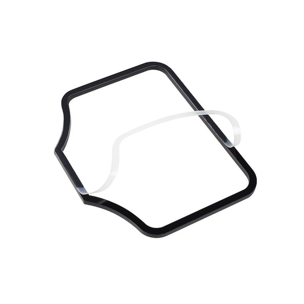 1pc Car Engine Start Card Key Position Trim Frame Holder Fixer Limiting Stopper Sticker Decoration Accessories For Tesla Model 3