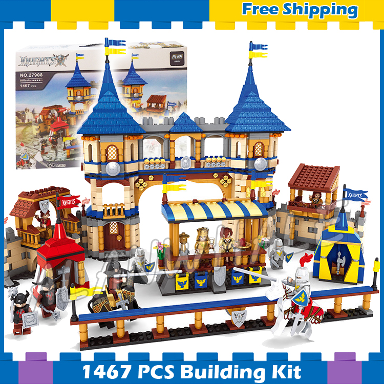 1467pcs New Knights King's Castle Royal Arena 27908 Model Building Blocks Children Toys Kids Boys Compatible With Lago image