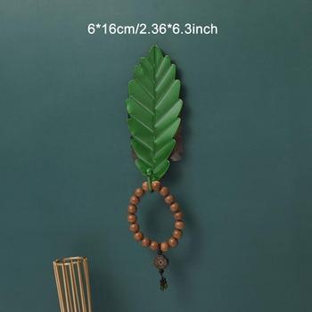 Leaves Shape Iron Hook Nordic Wall Decoration Leaf Key Watch Bags Jewelry Haning Hook Mutifuctional Wall Hanger Rack 21