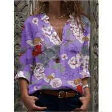 Новая модная Свободная Повседневная рубашка с длинным рукавом