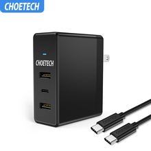 CHOETECH USB Charger 39W for iPhone 11 Xs X 8 Type C+Dual US
