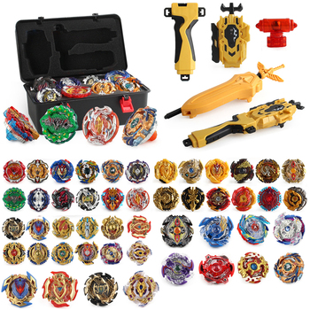Burst Tops Set Launchers Beyblade burst turbo Toy metal fusion Gyro launcher Metale God Burst Spinning bayblade Bey Blade Gift xd168 30a limited black warrior set burst burst assembly gyro alloy gyro toy four in one