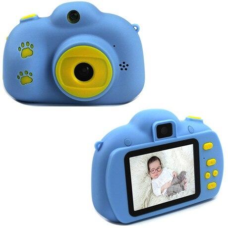 Мультяшная цифровая камера, детские игрушки, креативная развивающая игрушка для детей, аксессуары для обучения фотографии, подарки на день рождения, детские товары - Цвет: Blue footprint