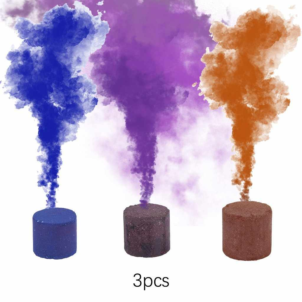 3 PC Smoke Cake Colorful Party Props Combustion Smog Cake Effect Smoke Bomb Pills Portable Photography Prop smoke effect ST18