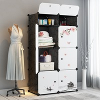 Extra Large Thick Storage Cabinets Simple Wardrobe Storage Rack Storage Box Cabinet Baby Wardrobe Infant Toy Cabinet