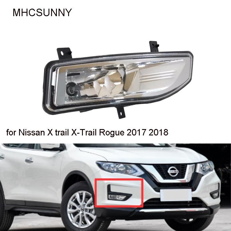Front Fog Lights For Nissan X-Trail Rogue 2017 2018 Fog Lamps DRL Headlight Fog Lamp Foglights
