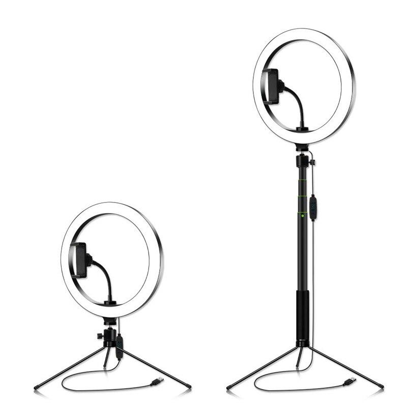 suporte do telefone kit foto anel lâmpada