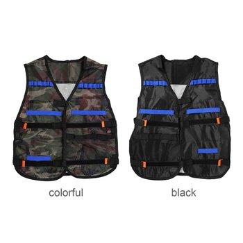 цена на NEW  54*47cm colete tatico Outdoor Tactical Adjustable Vest Kit For Nerf N-strike Elite Games Hunting vest Promotion