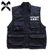 11 BYBB'S DARK Cargo Vest Men 2019 Autumn Summer Men Coat Sleeveless Jacket Casual Men Vest Coat DG153