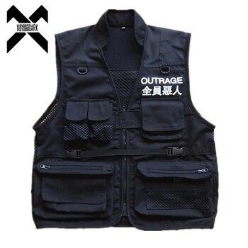 11 BYBBS DARK Cargo Vest Men 2019 Autumn Summer Coat Sleeveless Jacket Casual DG153