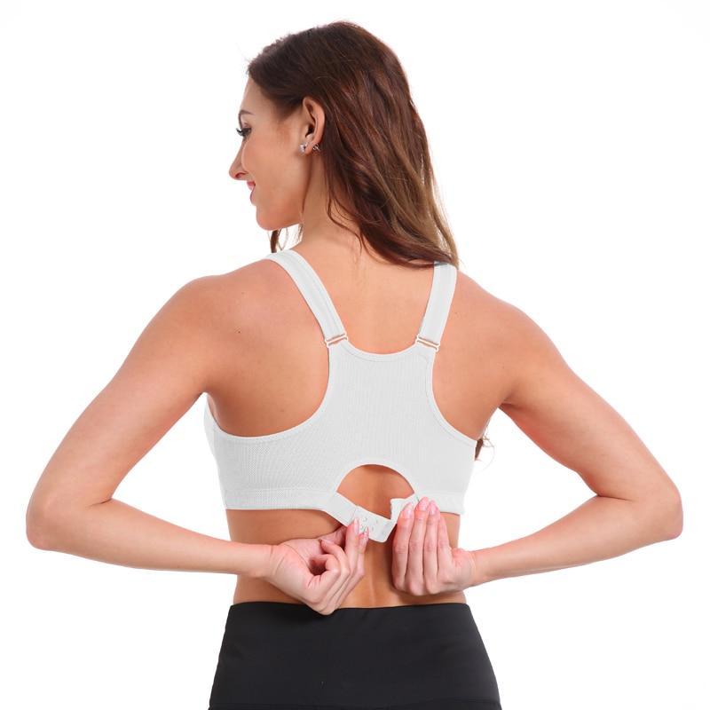 Women's Zipper Push Up Sports Bra 13