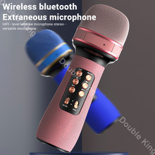 WS-898 Bluetooth Handheld Microphone Wireless Karaoke Double Speaker Condenser Mic Player Singing for iOS Android Smart TV